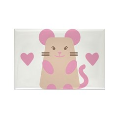Heart Mouse Rectangle Magnet (10 pack)