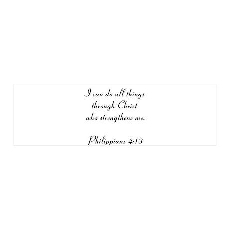 Philippians 4:13 21x7 Wall Peel