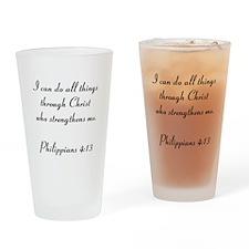 Philippians 4:13 Drinking Glass