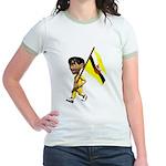3D Brunei Jr. Ringer T-Shirt