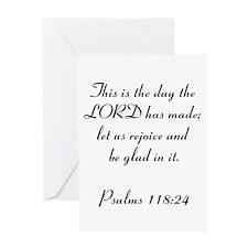 Psalms 118:24 Greeting Card