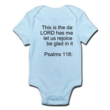Psalms 118:24 Infant Bodysuit
