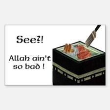 Allah is alright! Sticker (Rectangle)