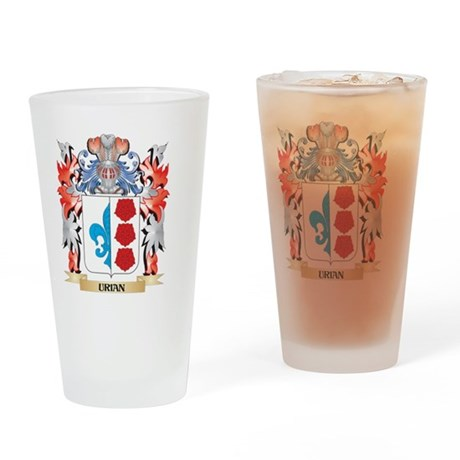 Urian Coat of Arms - Family Crest Drinking Glass
