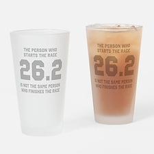 26.2 Marathon Saying Drinking Glass