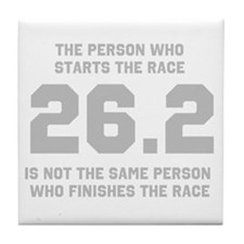 26.2 Marathon Saying Tile Coaster