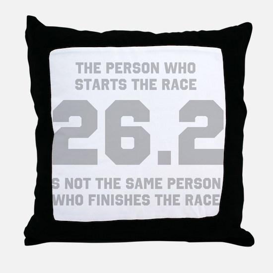 26.2 Marathon Saying Throw Pillow