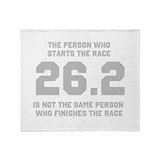 26.2 Marathon Saying Throw Blanket