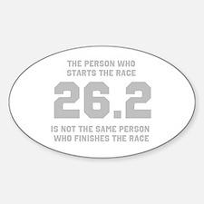 26.2 Marathon Saying Sticker (Oval)