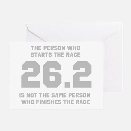 26.2 Marathon Saying Greeting Card