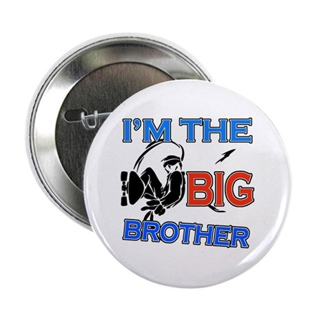 "Cool Skateboard Big Brother Design 2.25"" Button (1"