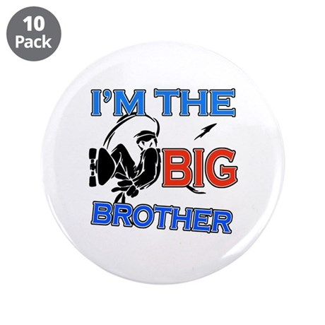 "Cool Skateboard Big Brother Design 3.5"" Button (10"