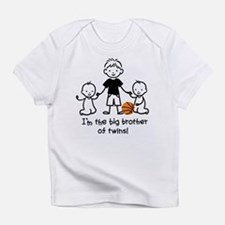 Big Brother of Twins - Stick Characters Infant T-S