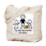 Big brother of twins Canvas Totes