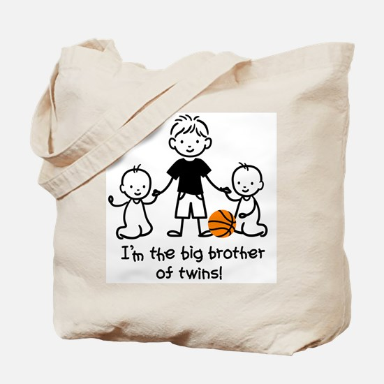 Big Brother of Twins - Stick Characters Tote Bag