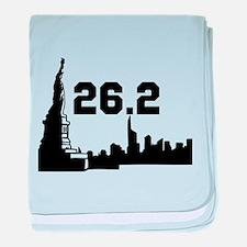 New York Marathon 26.2 baby blanket