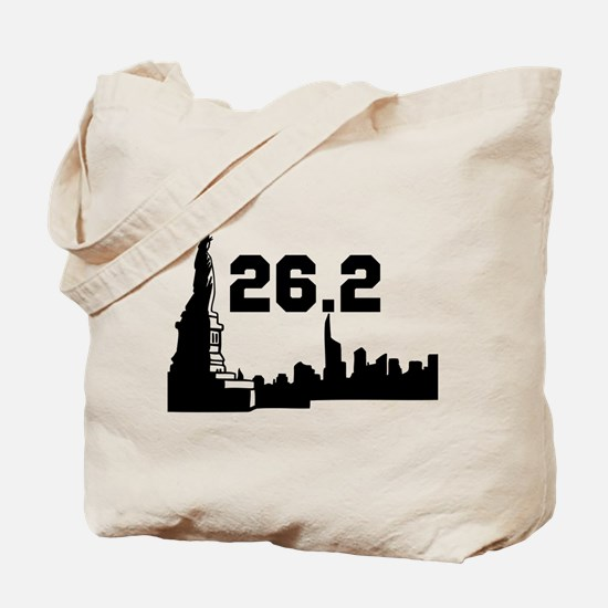New York Marathon 26.2 Tote Bag