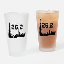 New York Marathon 26.2 Drinking Glass