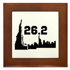 New York Marathon 26.2 Framed Tile