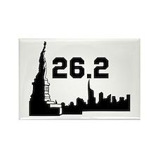 New York Marathon 26.2 Rectangle Magnet (10 pack)