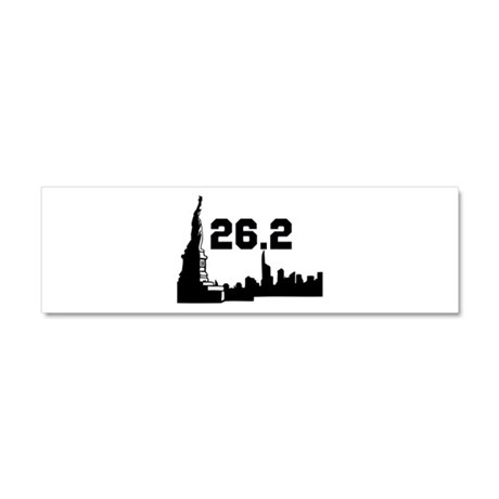 New York Marathon 26.2 Car Magnet 10 x 3