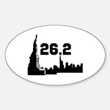 New York Marathon 26.2 Sticker (Oval)