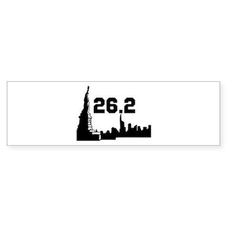 New York Marathon 26.2 Sticker (Bumper)
