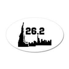 New York Marathon 26.2 22x14 Oval Wall Peel