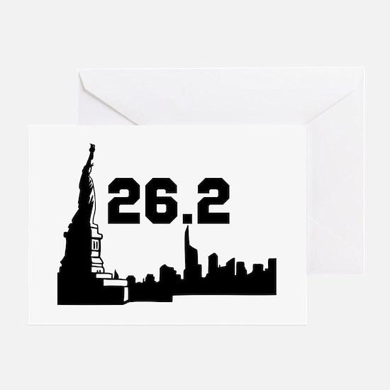 New York Marathon 26.2 Greeting Card