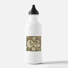 Vintage Map Sports Water Bottle