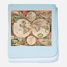 Vintage Map baby blanket