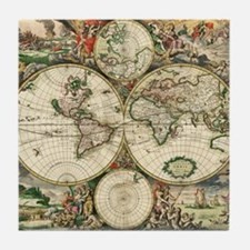 Vintage Map Tile Coaster