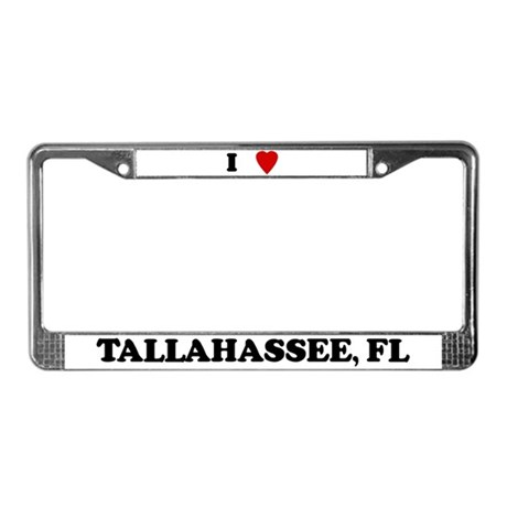 I Love Tallahassee License Plate Frame
