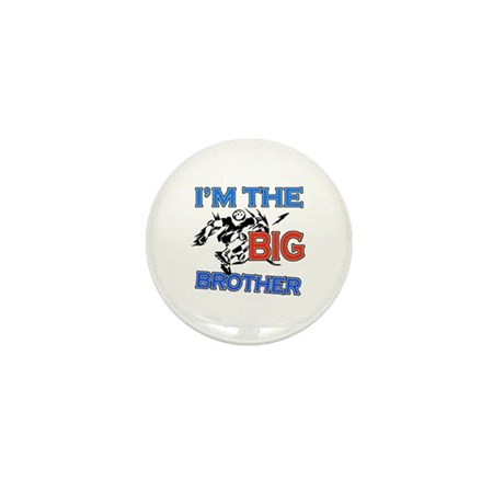 Cool Rollerblade Big Brother Design Mini Button (1