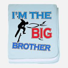 Cool Skateboard Big Brother Design baby blanket