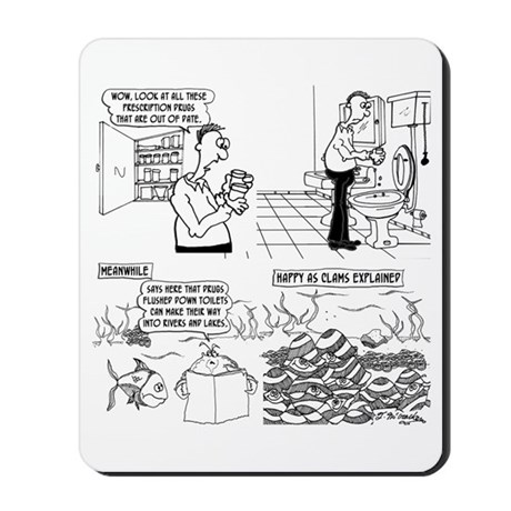 Happy As Clams Explained Mousepad