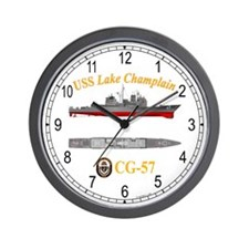 USS Lake Champlain CG-57 Wall Clock