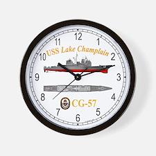 USS Lake Champlain CG-57 Wall Clock