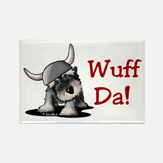 KiniArt Schnauzer Wuff Rectangle Magnet (100 pack)