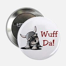 """KiniArt Schnauzer Wuff Da! 2.25"""" Button"""