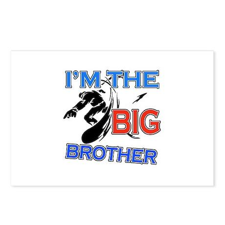 Cool Snowboard Big Brother Design Postcards (Packa