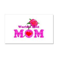 World's Best MOM Car Magnet 20 x 12