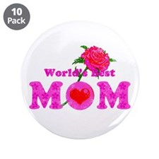 """World's Best MOM 3.5"""" Button (10 pack)"""