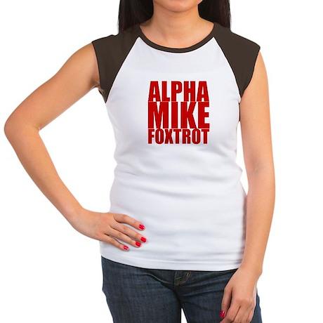 Alpha Mike Foxtrot Women's Cap Sleeve T-Shirt