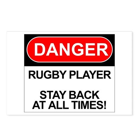 """Danger Rugby Player"" Postcards (Package of 8)"