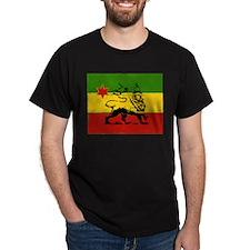 Rasta Gear Shop Rasta Flag Black T-Shirt