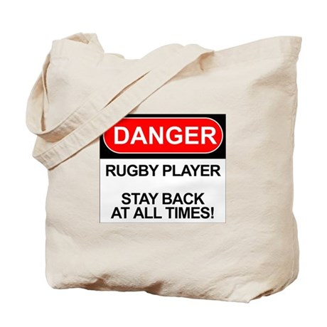 """Danger Rugby Player"" Tote Bag"