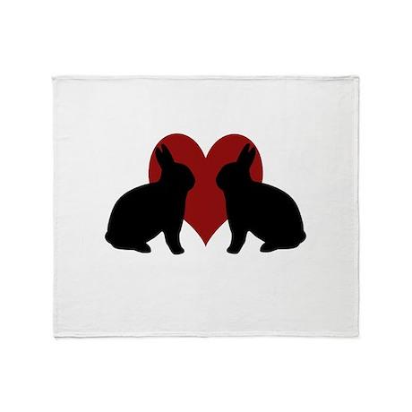 Bunny Love 3 Throw Blanket