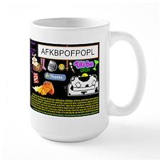 Crazy Colour Large Mug: MomCat
