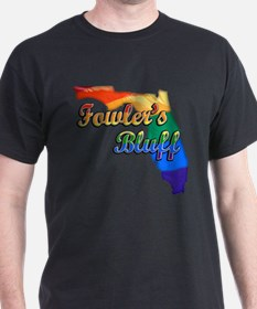 Fowlers Bluff, Florida, Gay Pride, T-Shirt